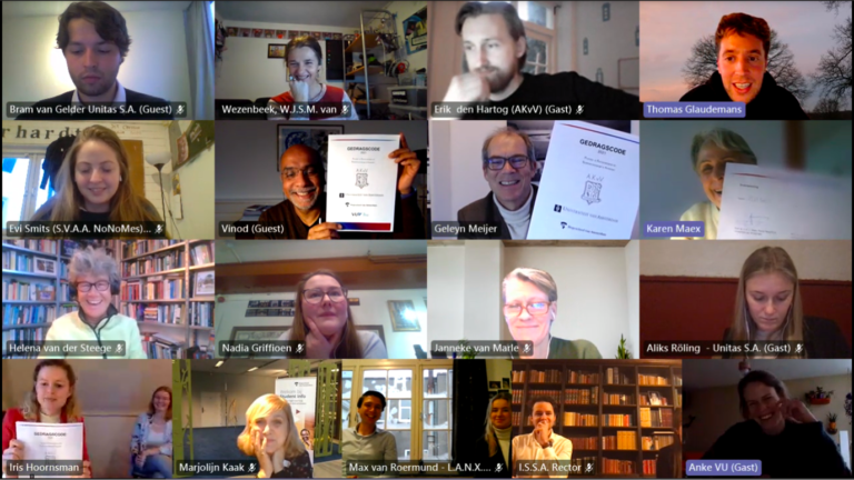 Gedragscode 'Promotie- en kennismakingstijd van studentenverenigingen te Amsterdam' 2021